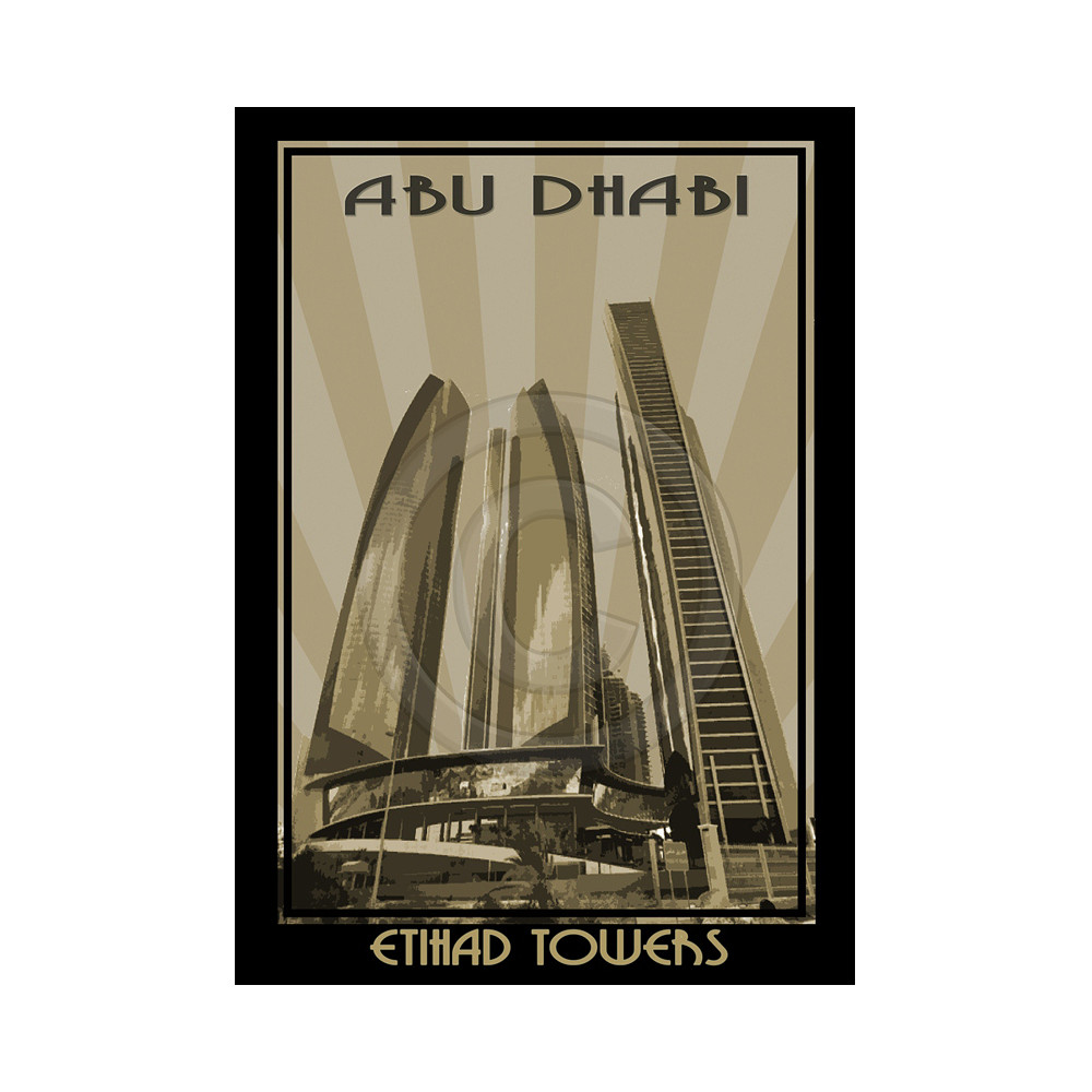 Deco Arabia Etihad Towers sepia w/ text A1
