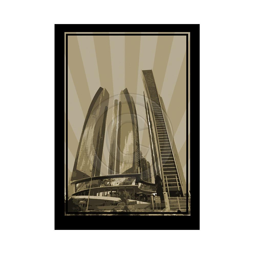 Deco Arabia Etihad Towers sepia A0