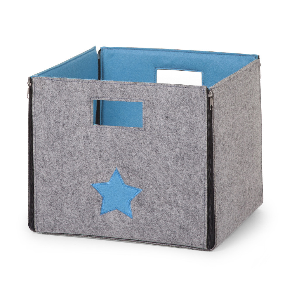 Childhome Felt Foldable Storage Box Grey
