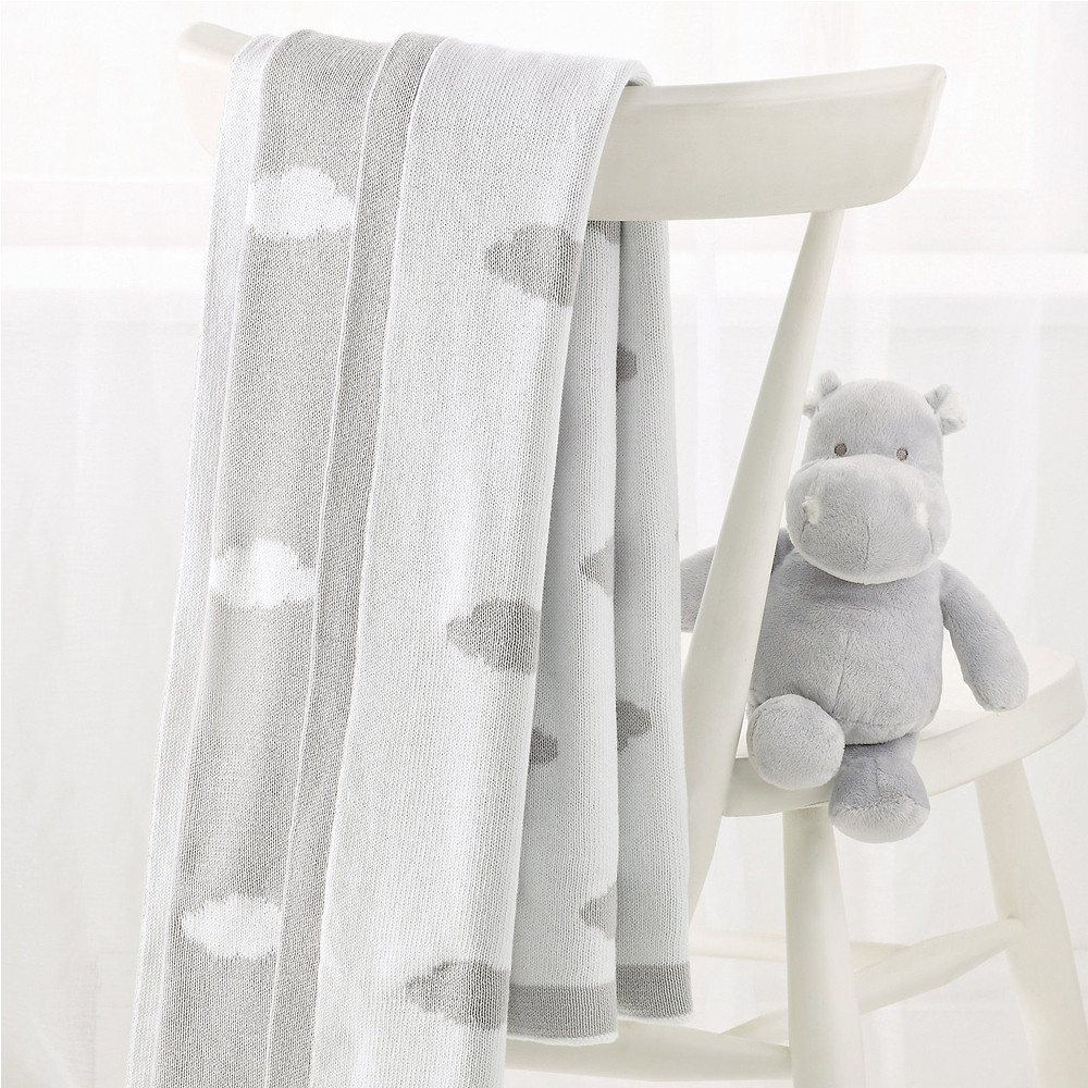 The White Company Reversible Cloud Blanket, Grey