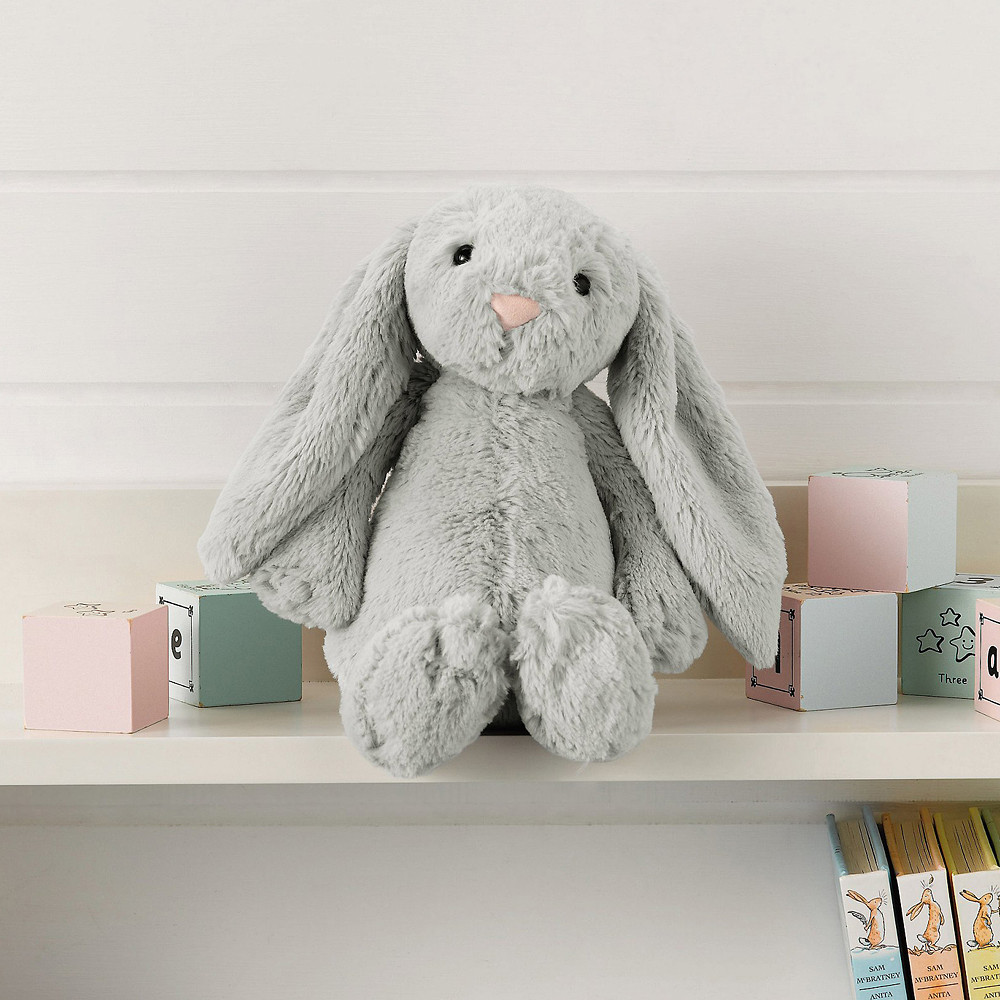 The White Company Medium Silver Bashful Bunny