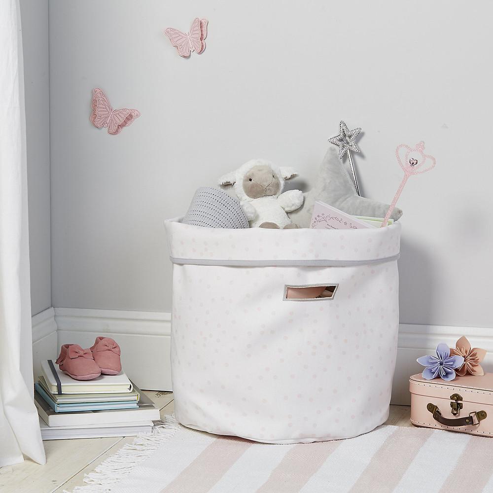 The White Company Spot Storage Bag, White Pink