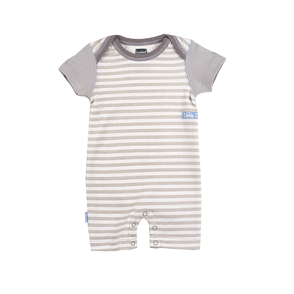 Kushies Traditions Romper, Grey