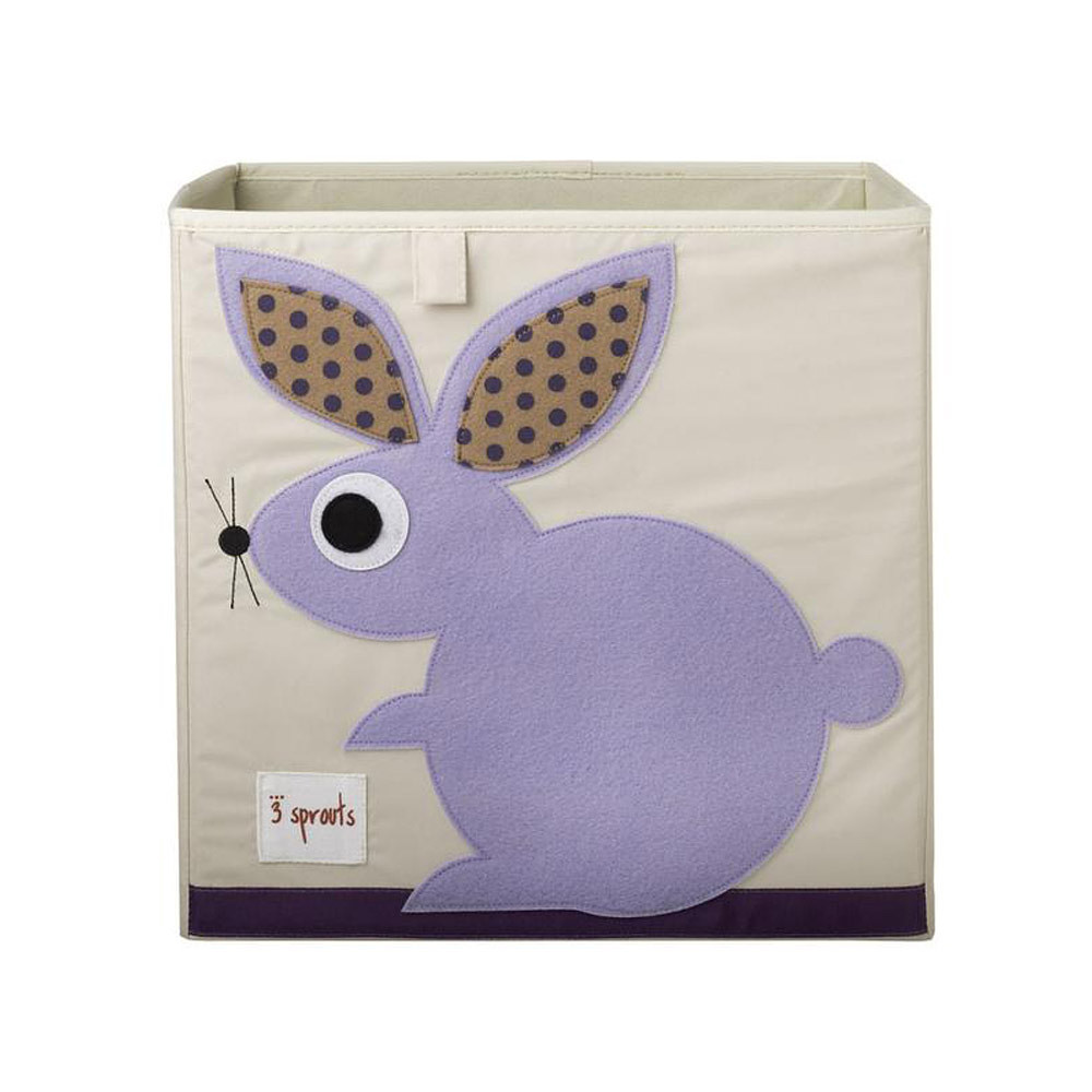 3 Sprouts Storage Box Purple Rabbit