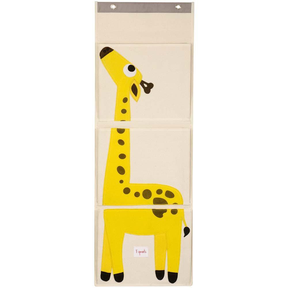 3 Sprouts Wall Organizer Giraffe Yellow