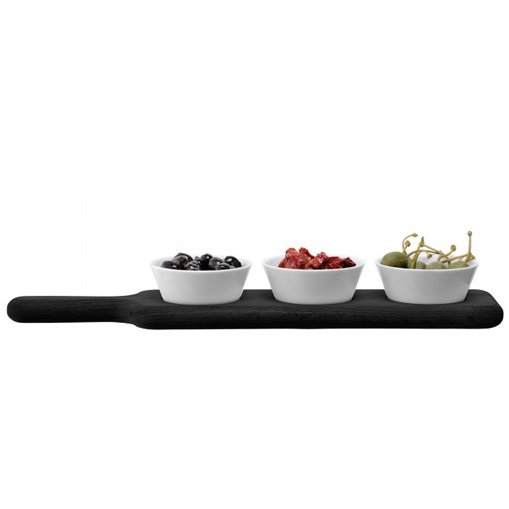 Paddle Bowl Set & Black Beech