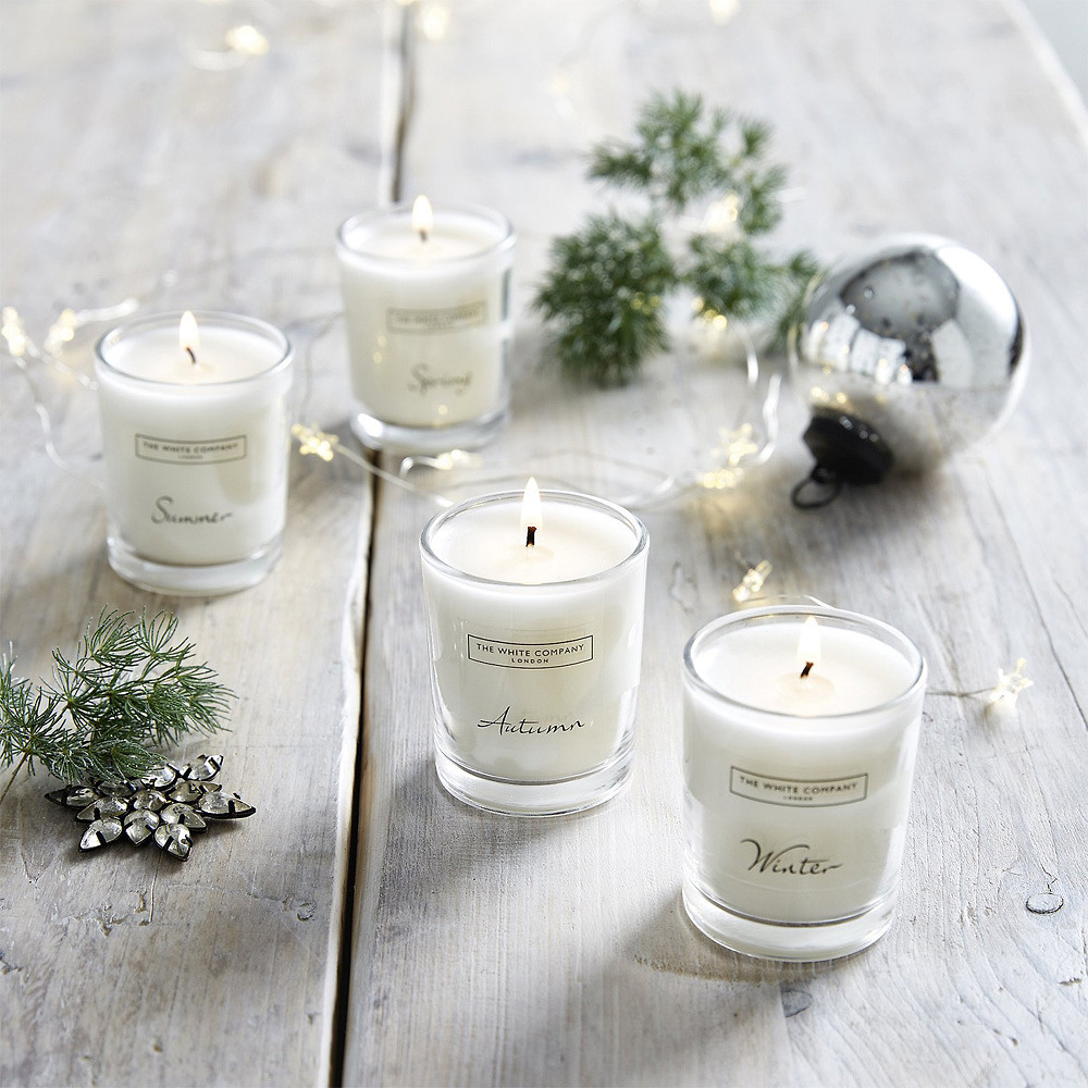 The White Company Four Season Votive Candle Collection