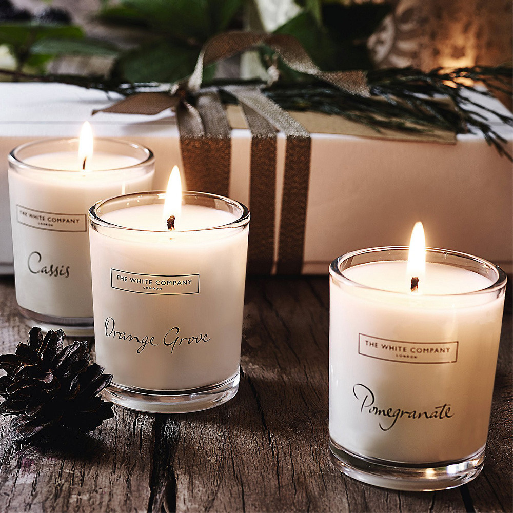 The White Company Winter Fruits Candle Collection, Set of 3