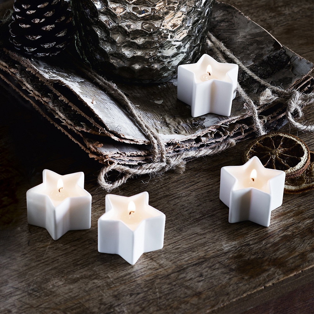 The White Company Winter Star Tealights