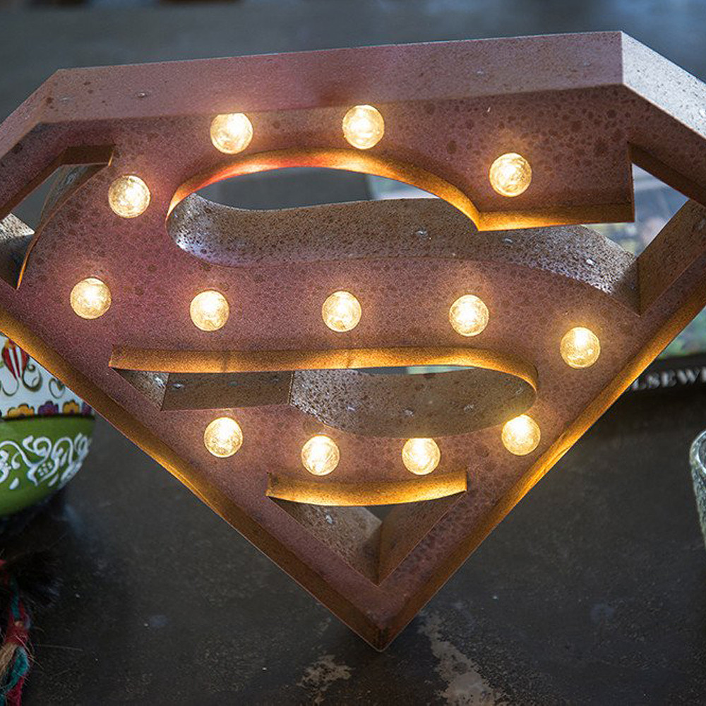 Lights & Letters Red Rusty Superman