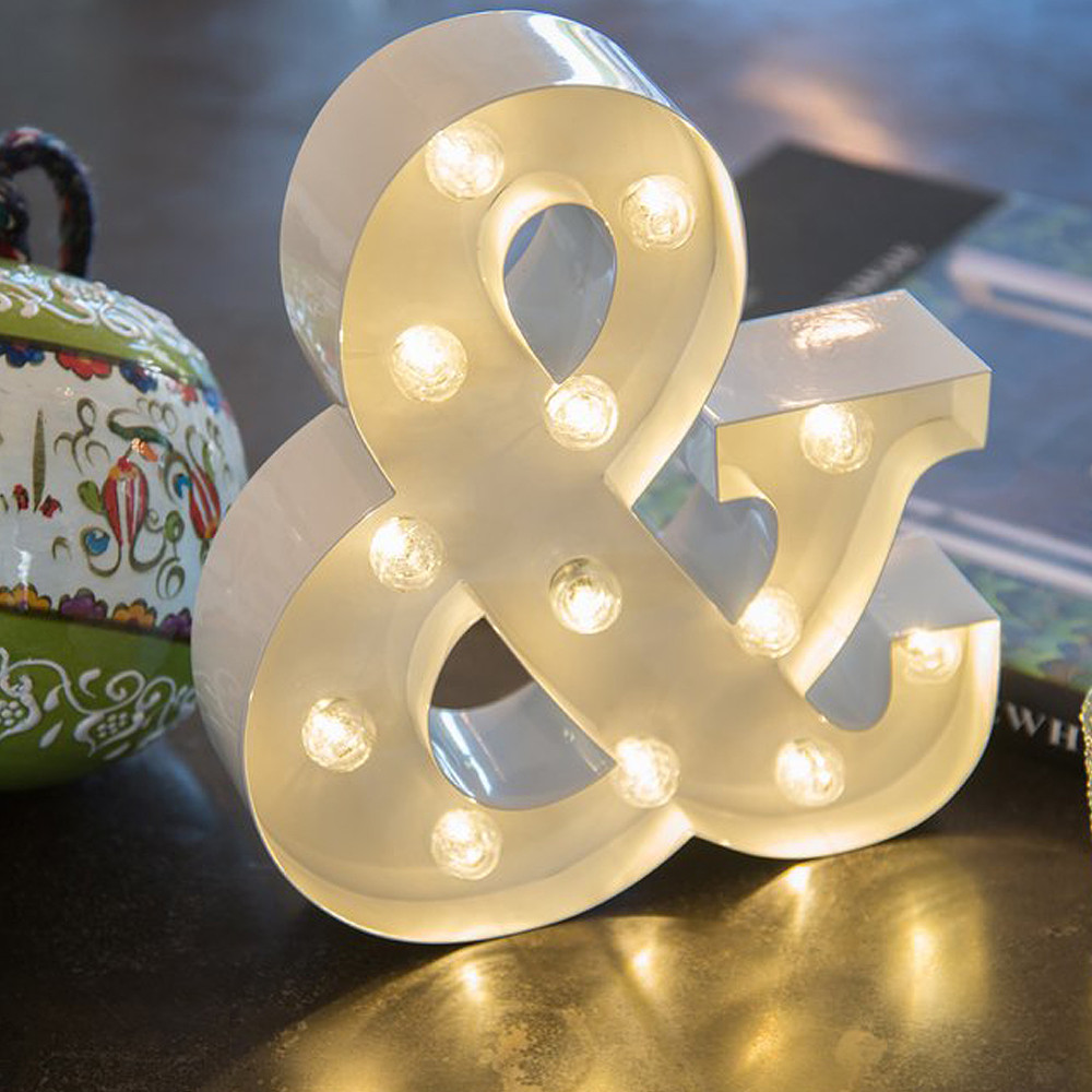 Lights & Letters White Ampersand