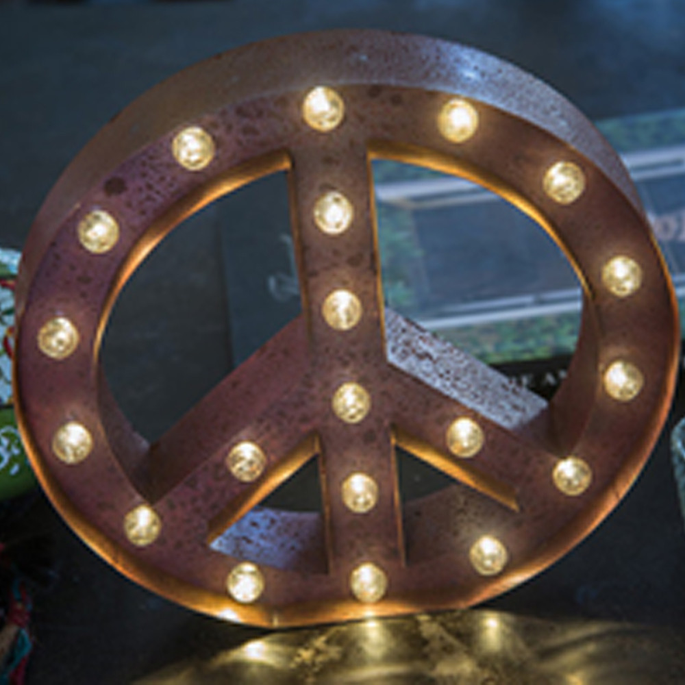 Lights & Letters Red Rusty Peace