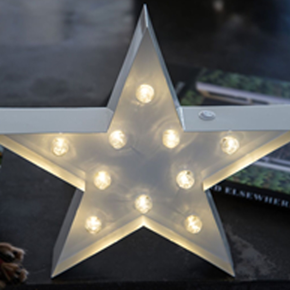 Lights & Letters White Star