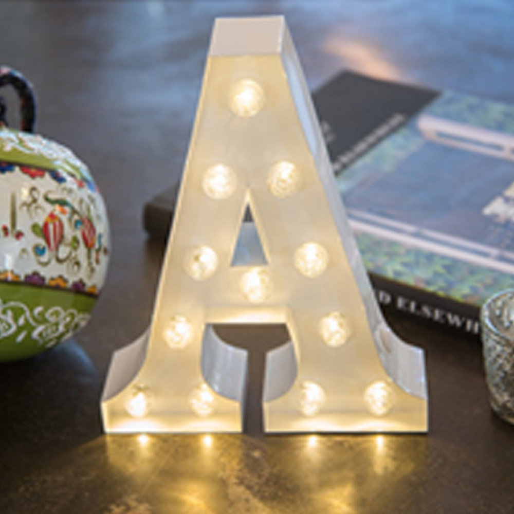 Lights & Letters White A