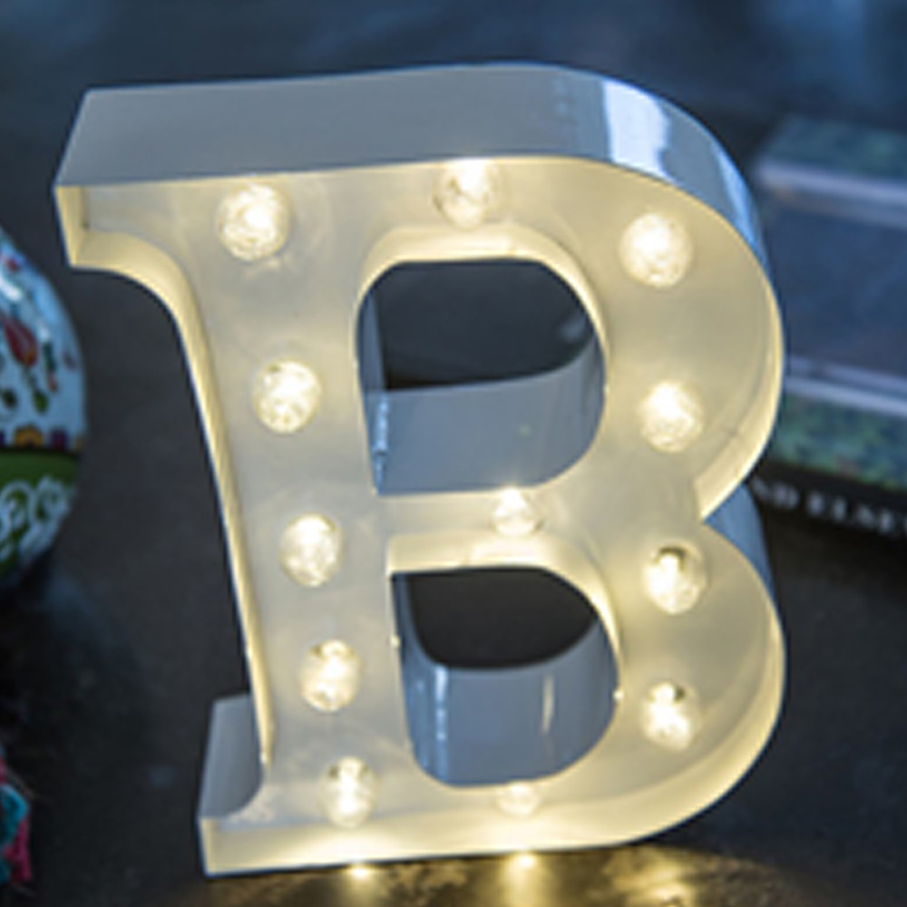 Lights & Letters White B
