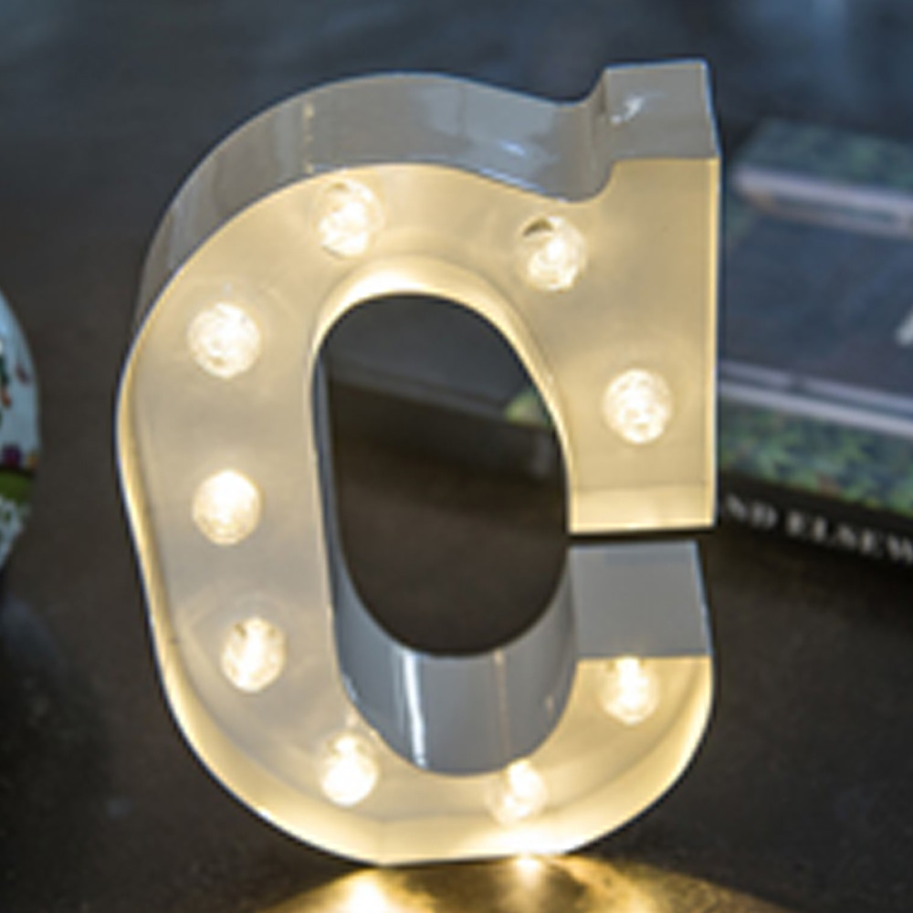 Lights & Letters White C