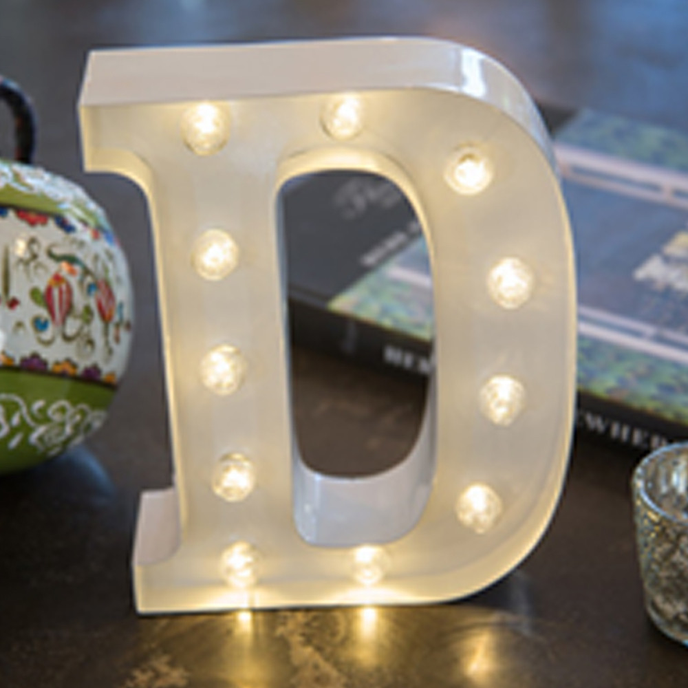 Lights & Letters White D