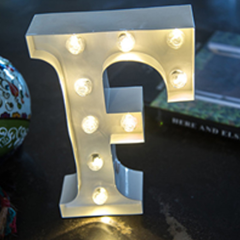 Lights & Letters White F