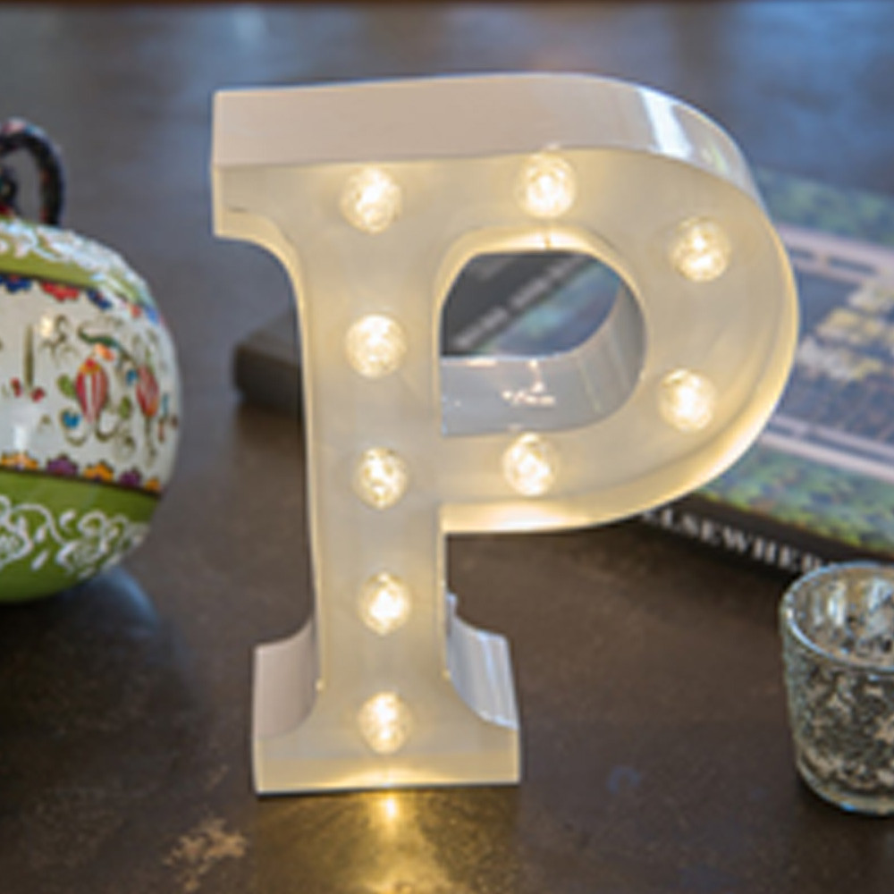 Lights & Letters White P