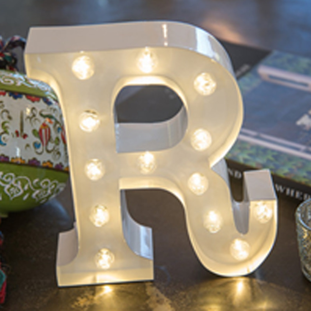 Lights & Letters White R