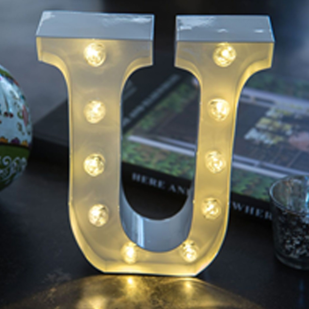 Lights & Letters White U
