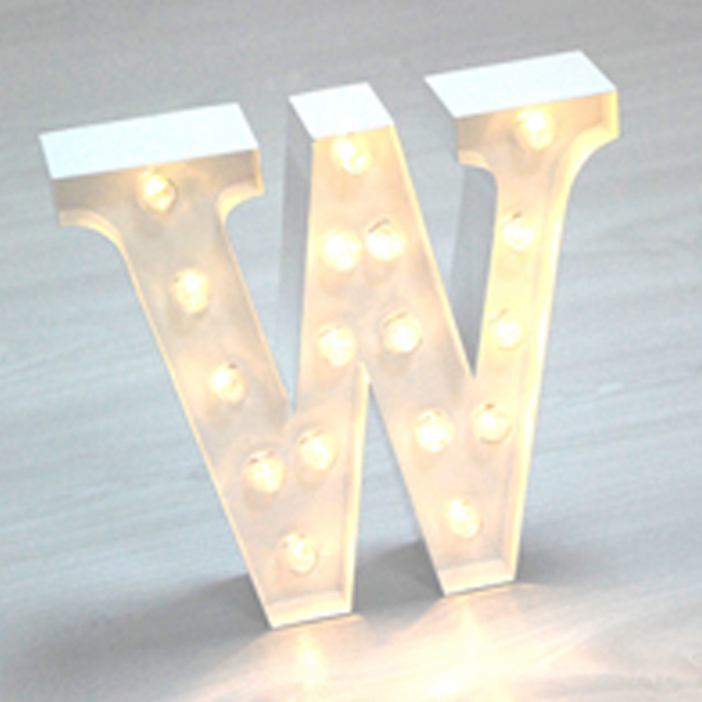 Lights & Letters White W
