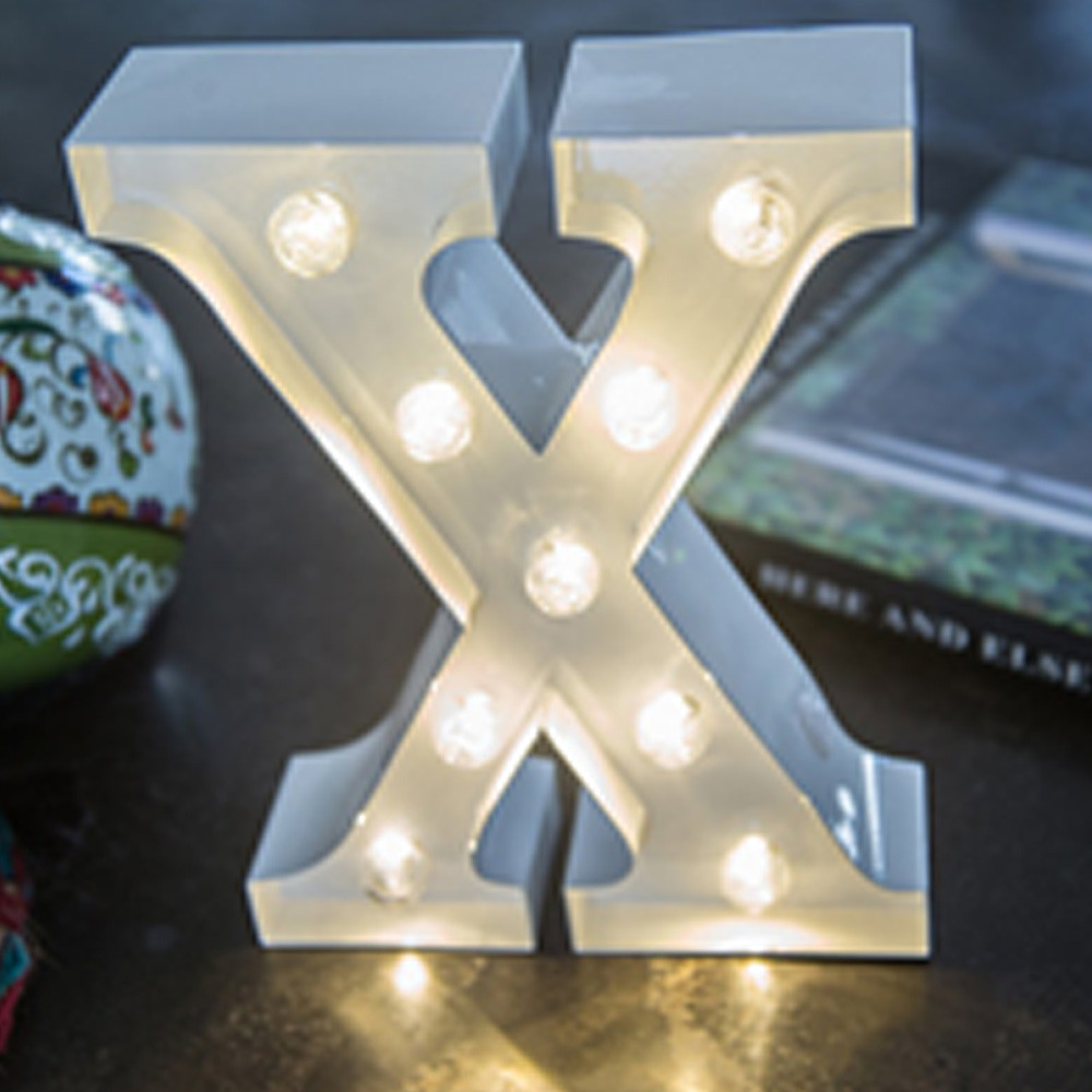 Lights & Letters White X