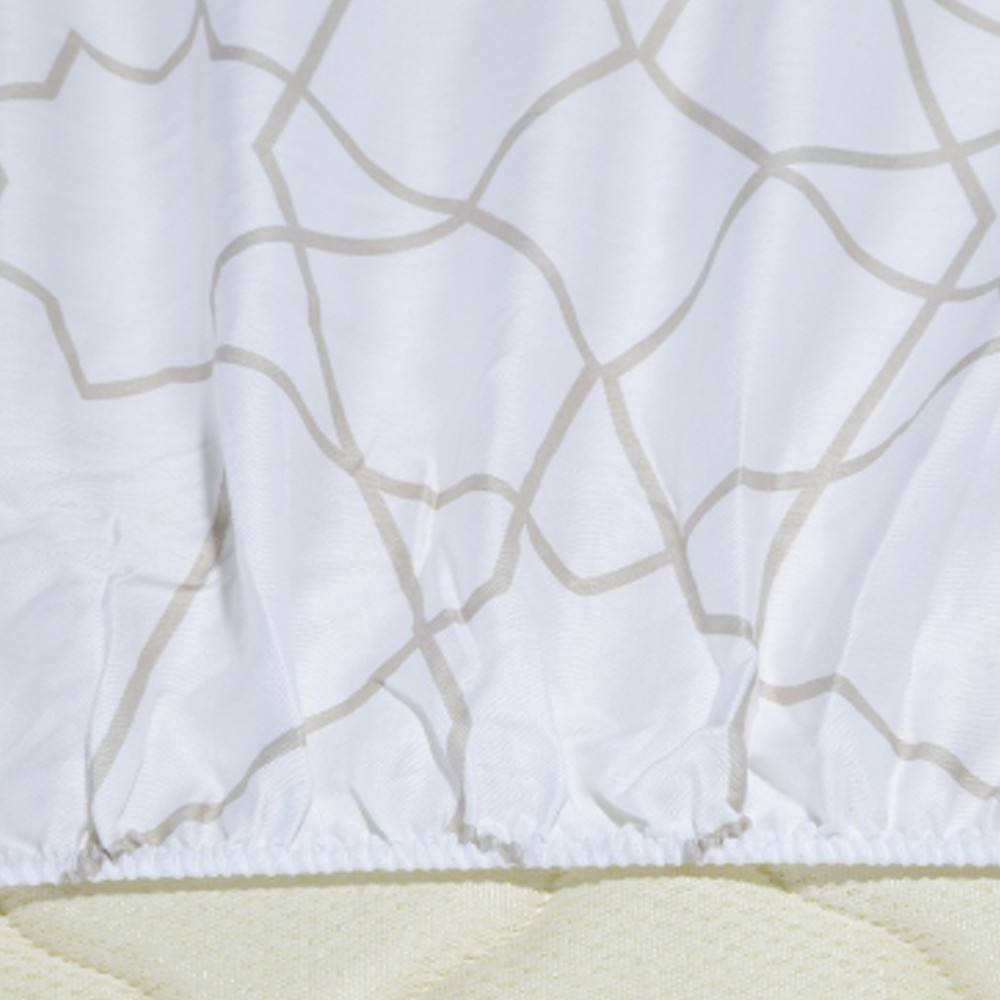 Home Centre Azulious Fitted Sheet Beige