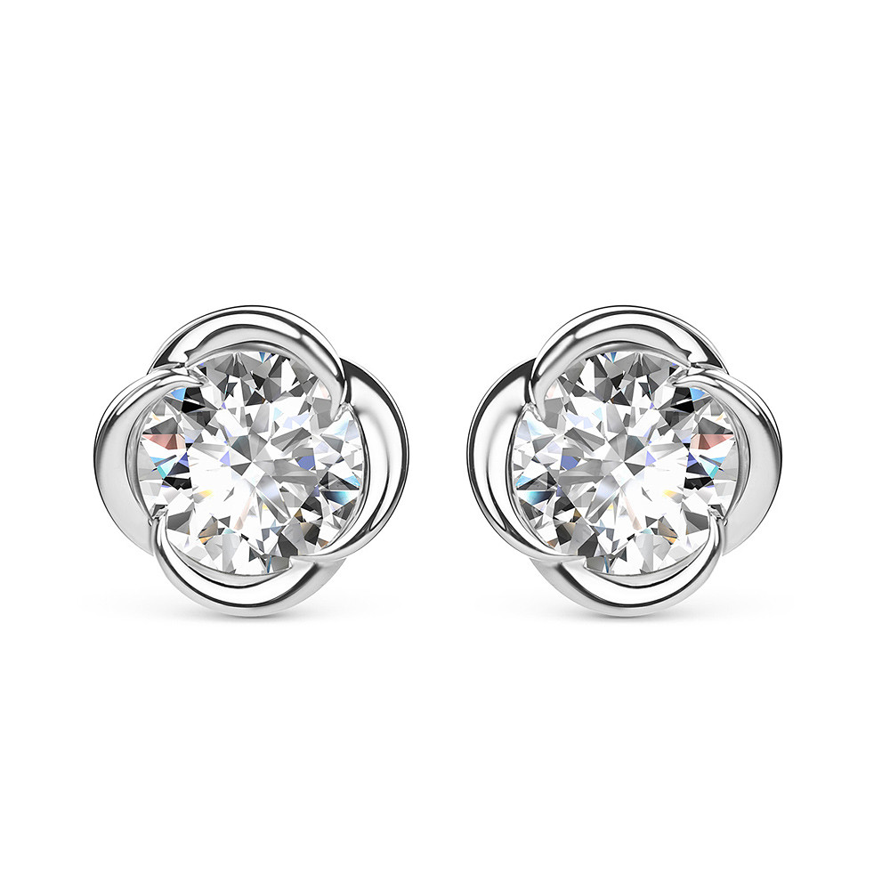 Damas Blossom Solitaire Earrings