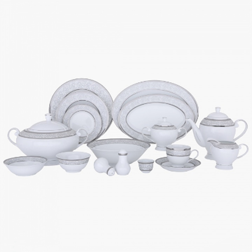 Home Centre Queens Garden Dinner Set, 106 pc set