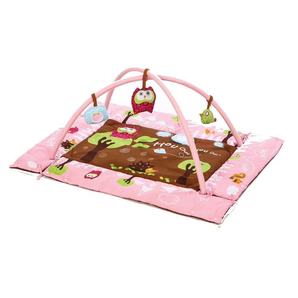 Ludi Rectangle Owl Playmat Pink