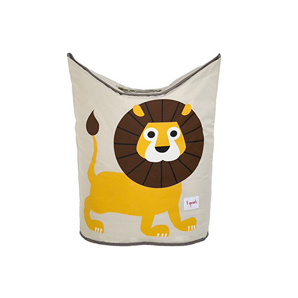 3 Sprouts Laundry Hamper Yellow Lion
