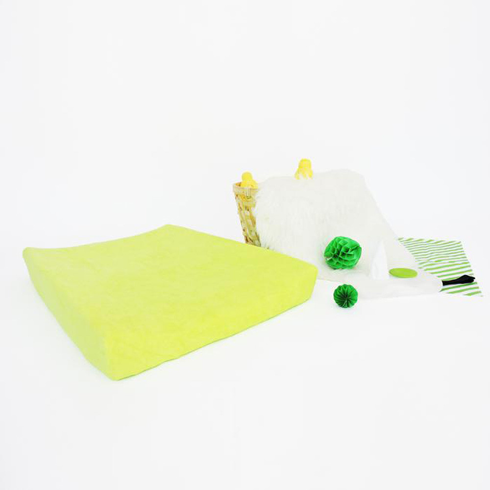 JustEssentials Changing Pad Cover Lime