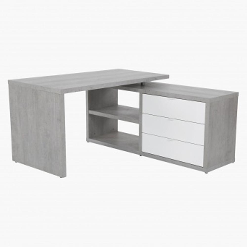 Home Centre Petra Corner Desk White/Grey