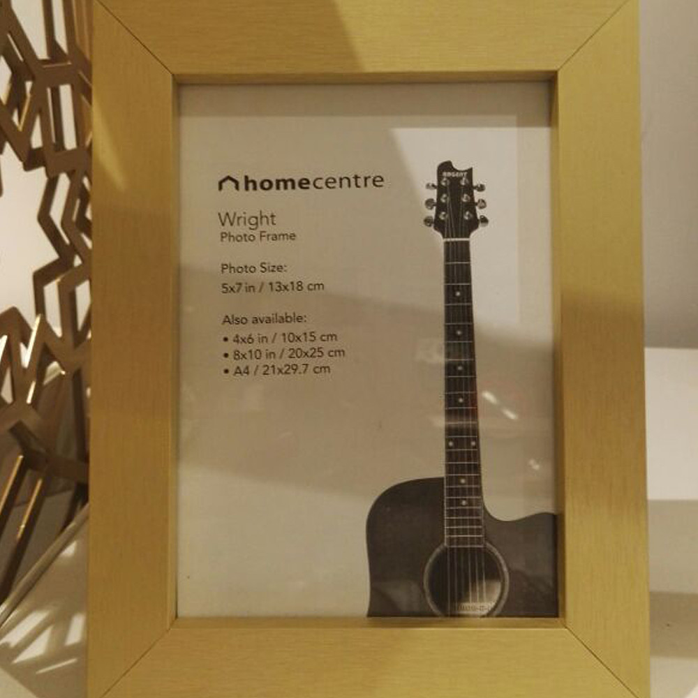 Home Centre WRIGHT 5x7inch Photo Frame Gold