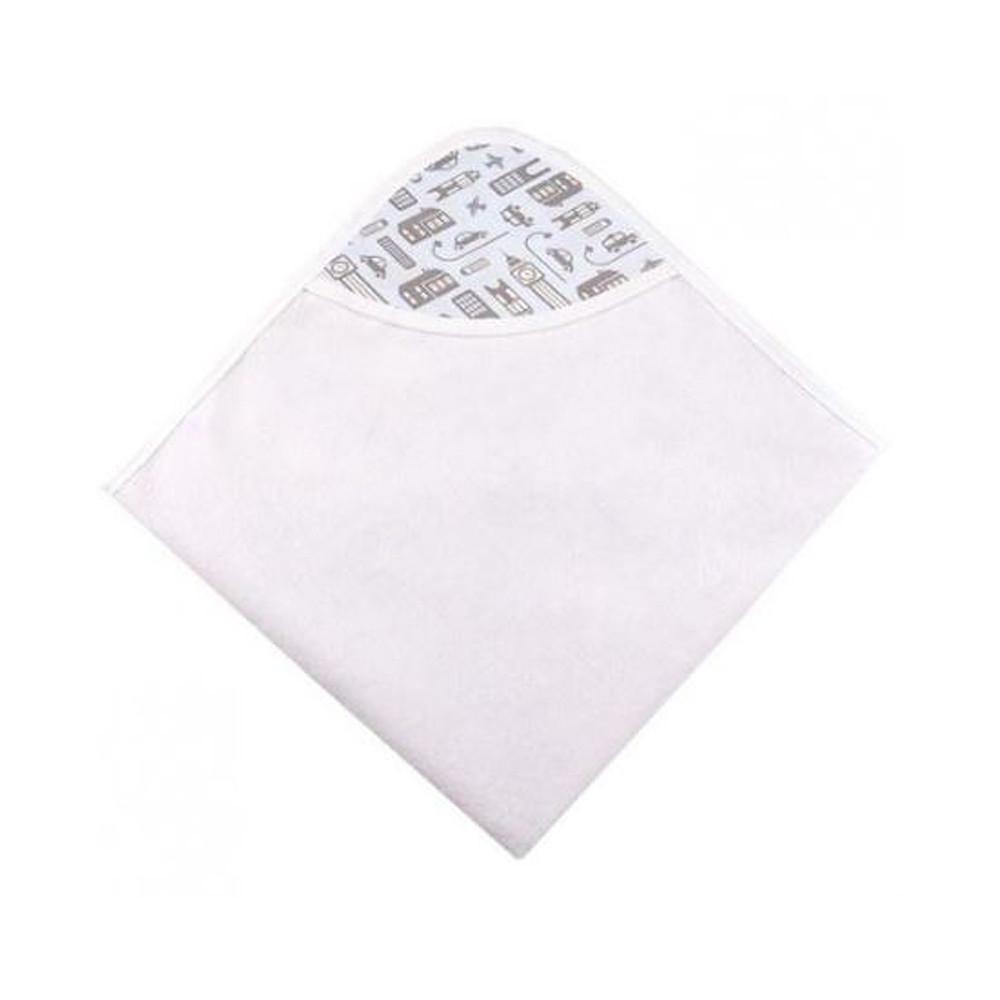 Kushies Ben & Noa Percale Hooded Towel