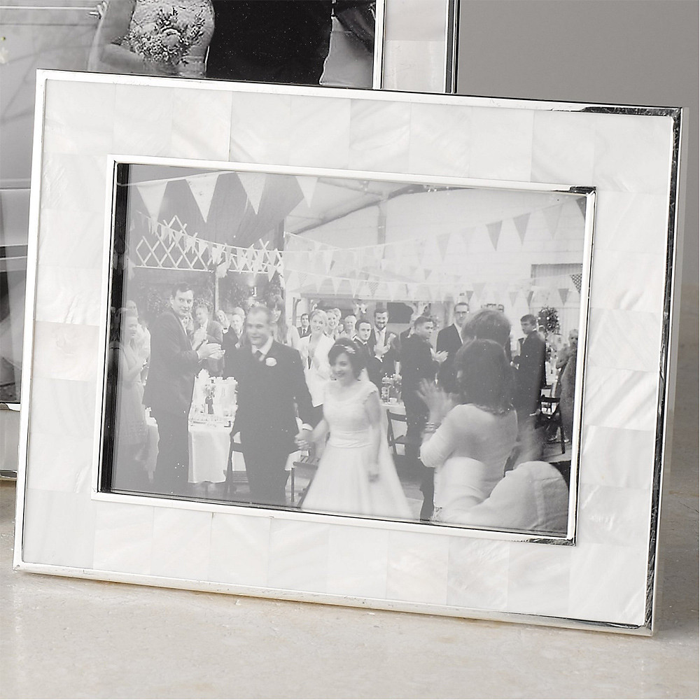 The White Company Mother of Pearl Photo Frame 5 x 7 inch