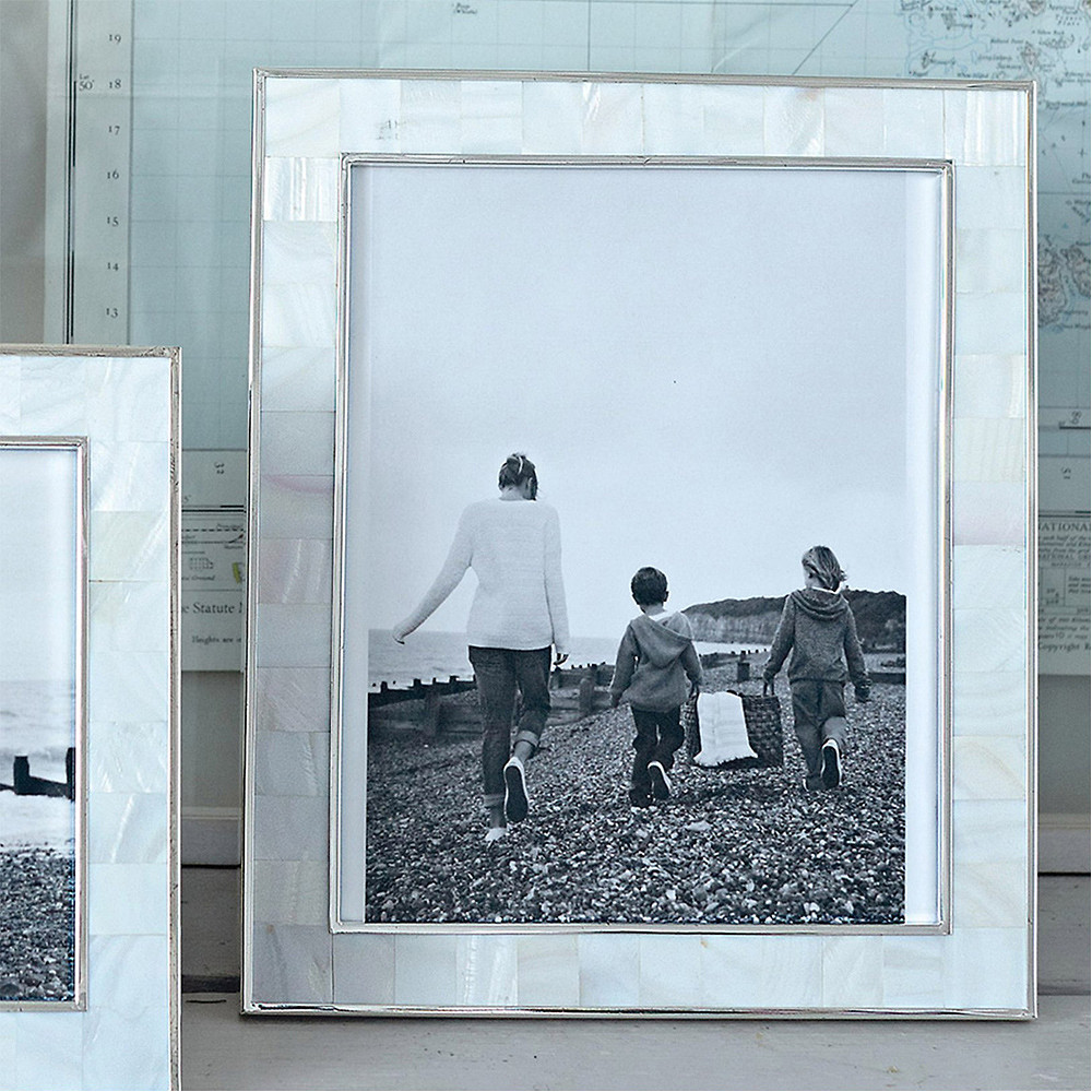 The White Company Mother of Pearl Photo Frame 8 x 10 inch