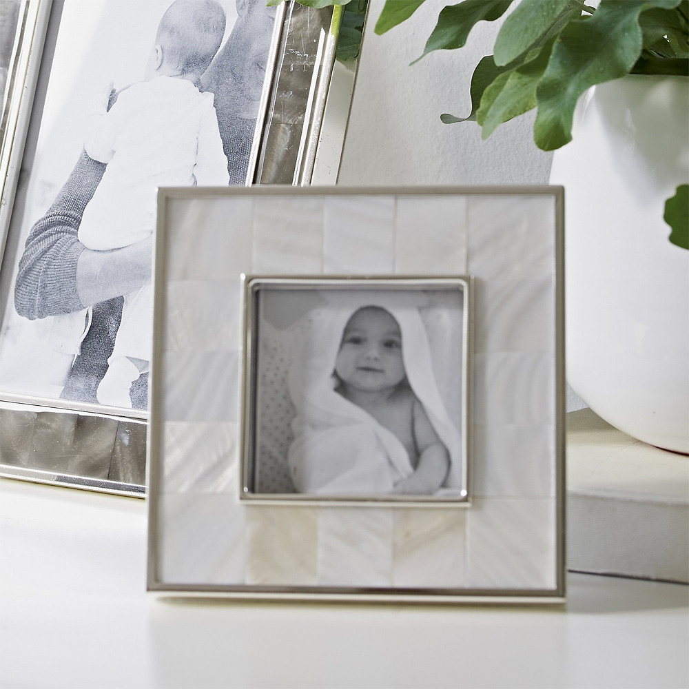 The White Company Mother of Pearl Photo Frame 3 x 3 inch