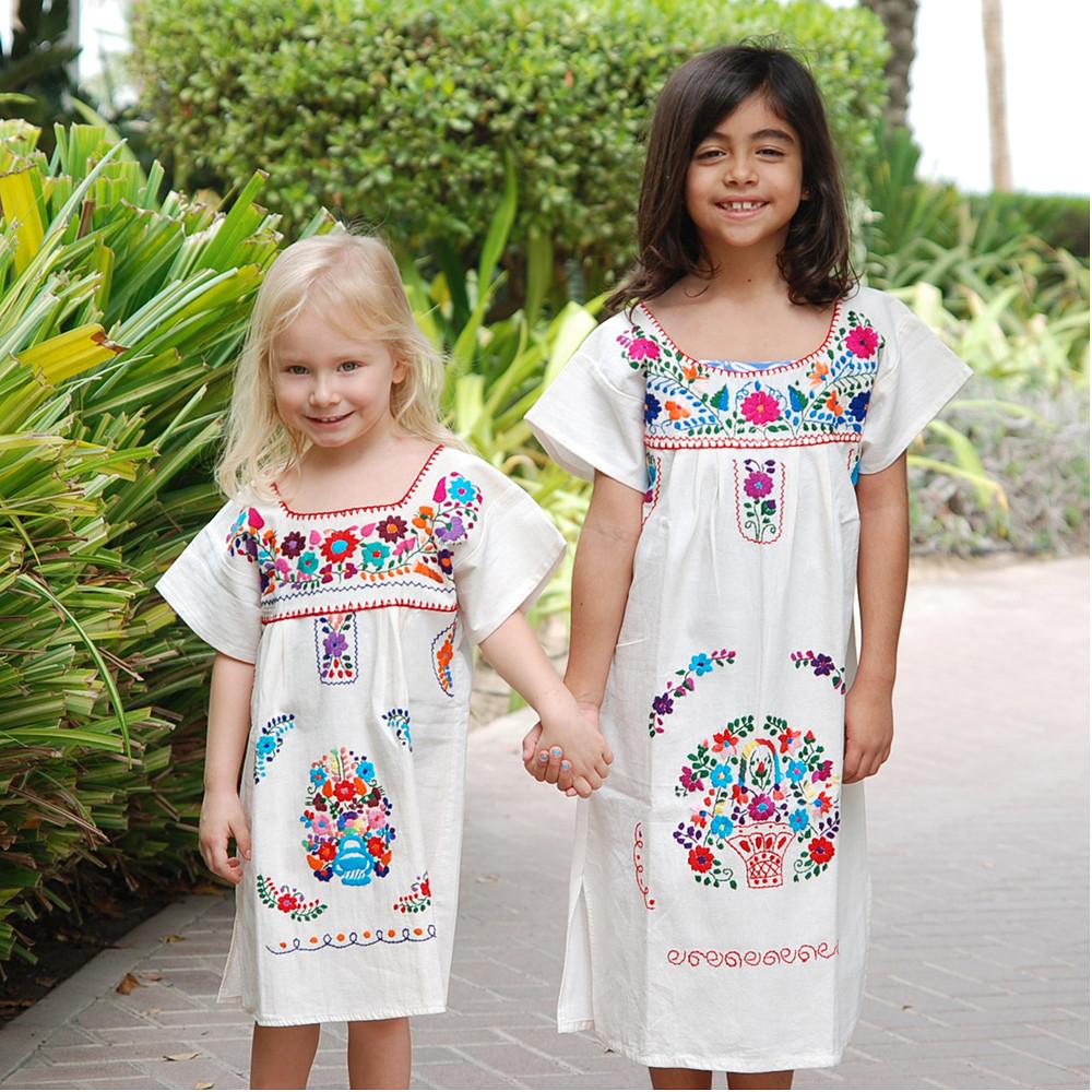 Manta & Rebozo Typical Mexican Dress Kids