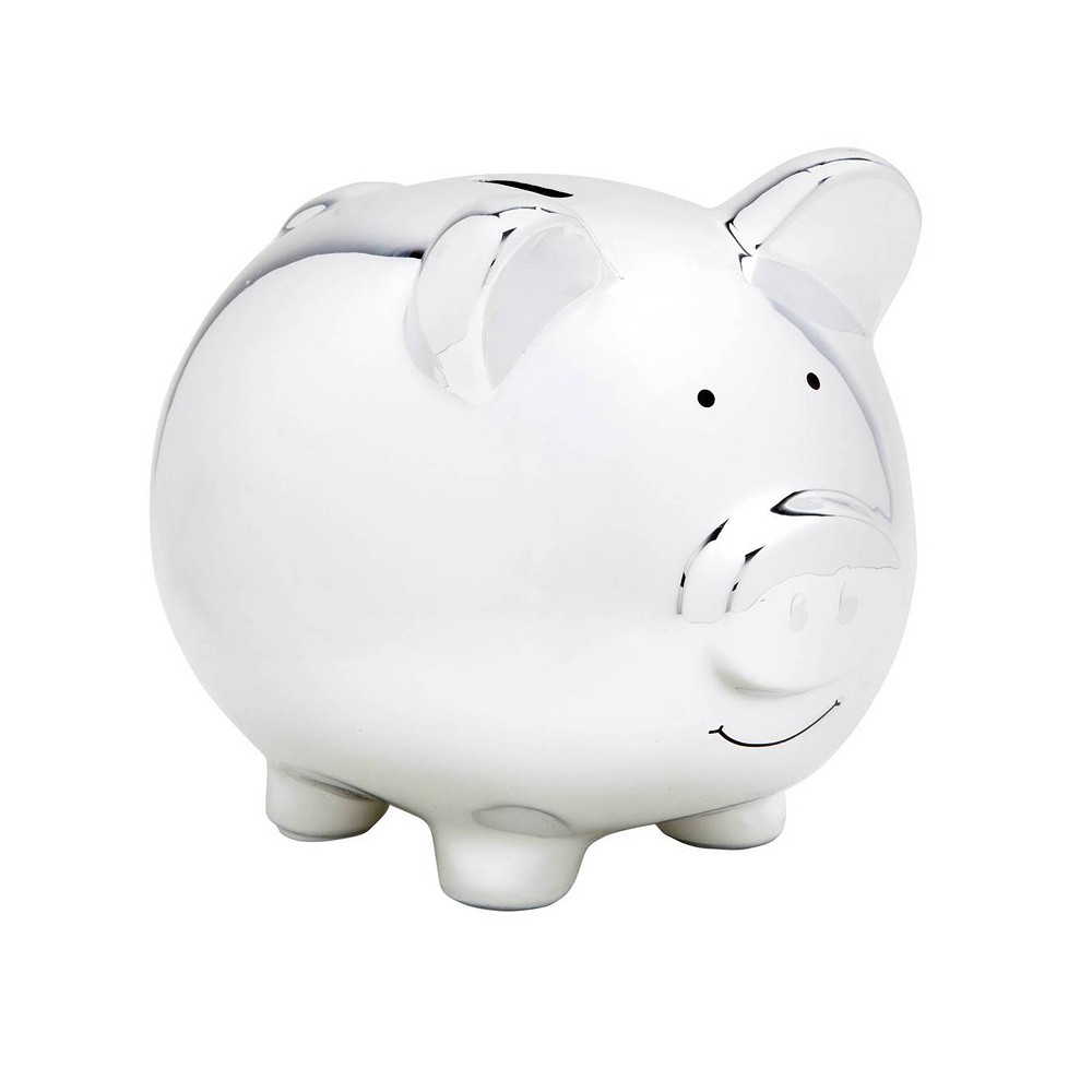 Pearhead Ceramic Money Banks Silver