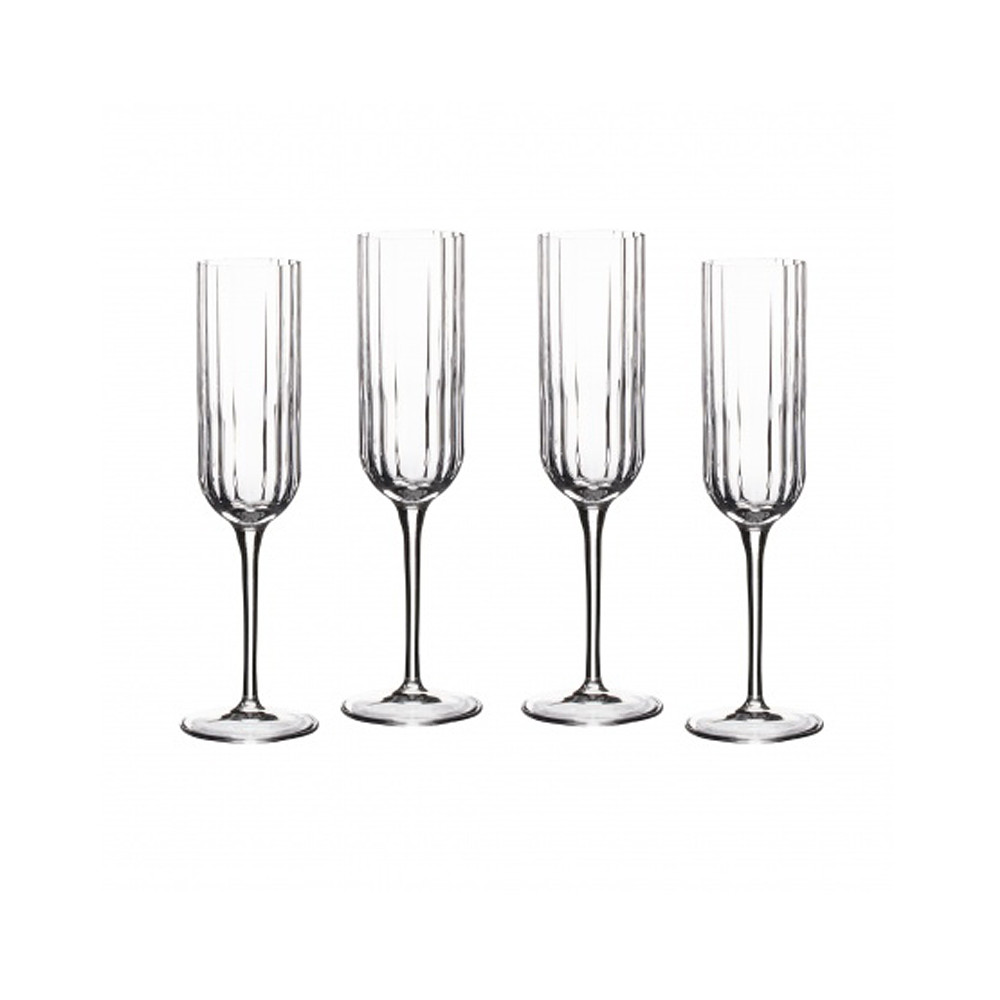 Home Centre Bach Flute Glass 210 ml Set of 4