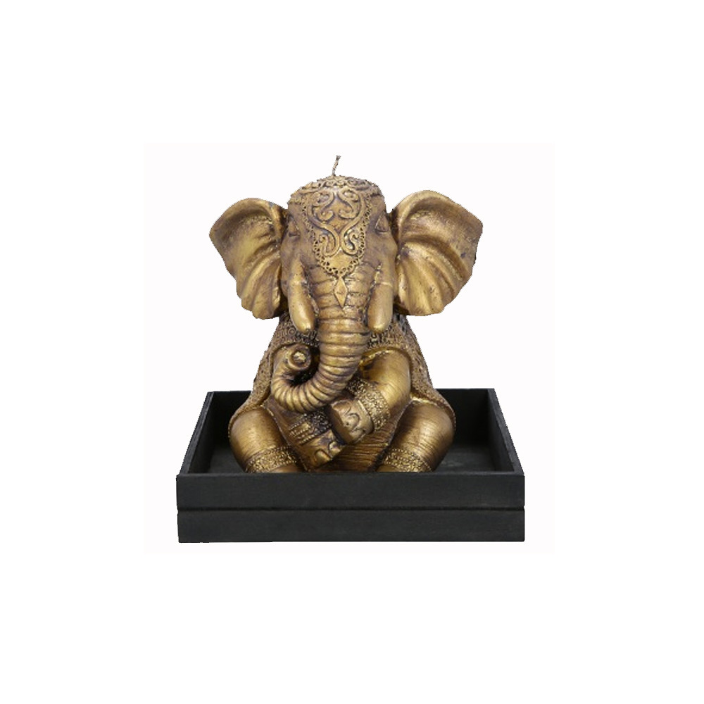 Home Centre Majestic Sitting Elephant Gold