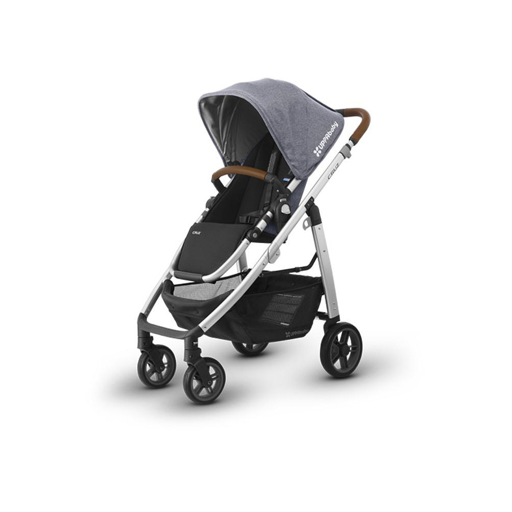 Uppababy Cruz Stroller 2017 - Silver Frame + Leather Accents