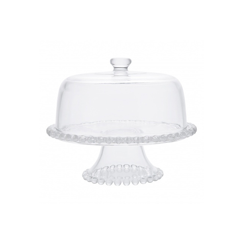 Home Centre Pearl Cake Stand With Dome