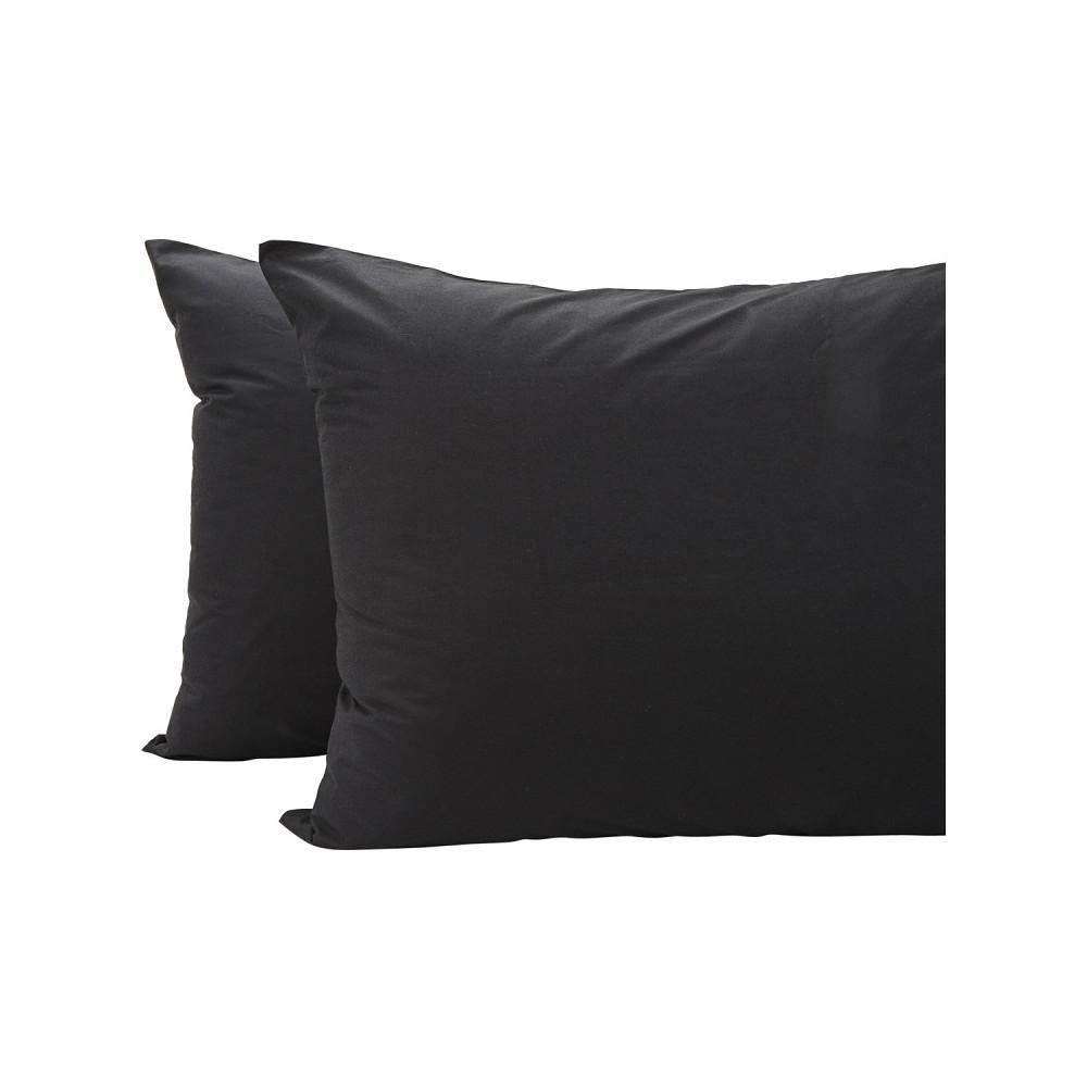 Home Centre Eternity 2Pc Pillow Cover 50x75cm Black