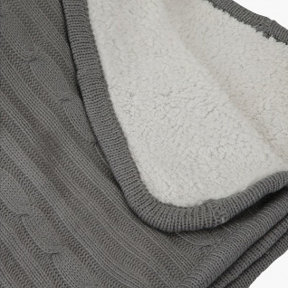 Home Centre Eva Cable Knit Blanket 150x200cm Grey
