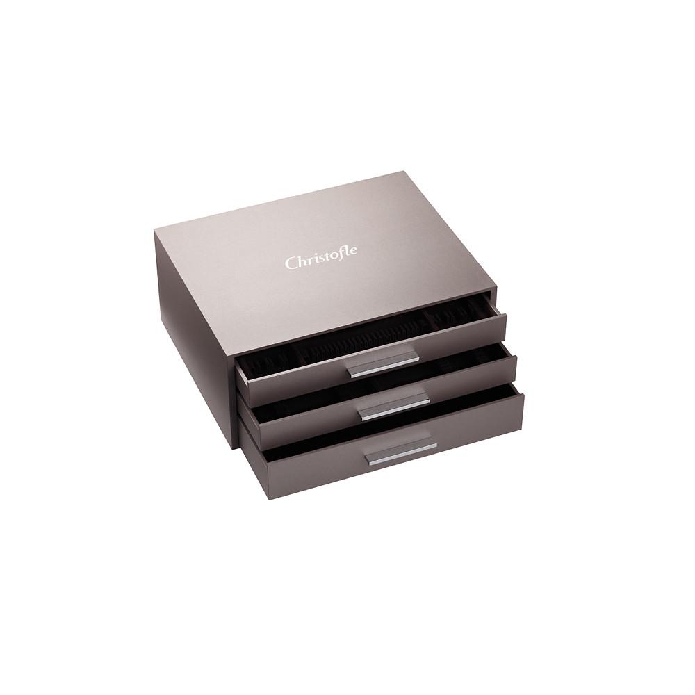 Christofle Ambassador 125pc Flatware Storage Chest