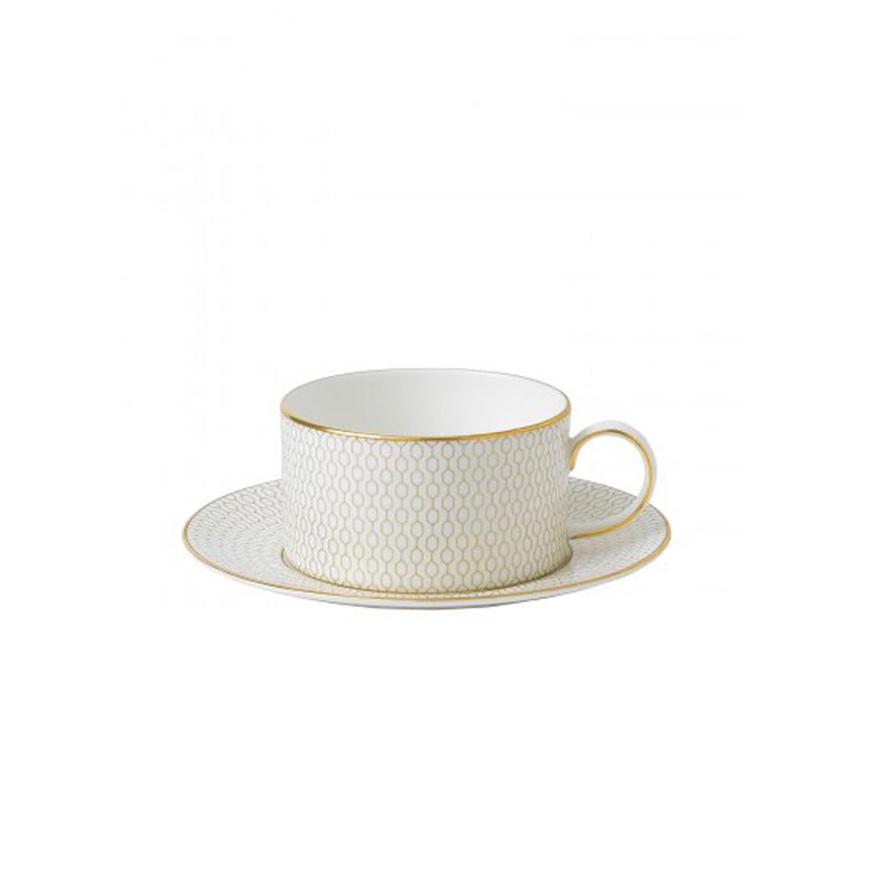 Wedgwood Arris Tea Cup & Saucer Honeycomb