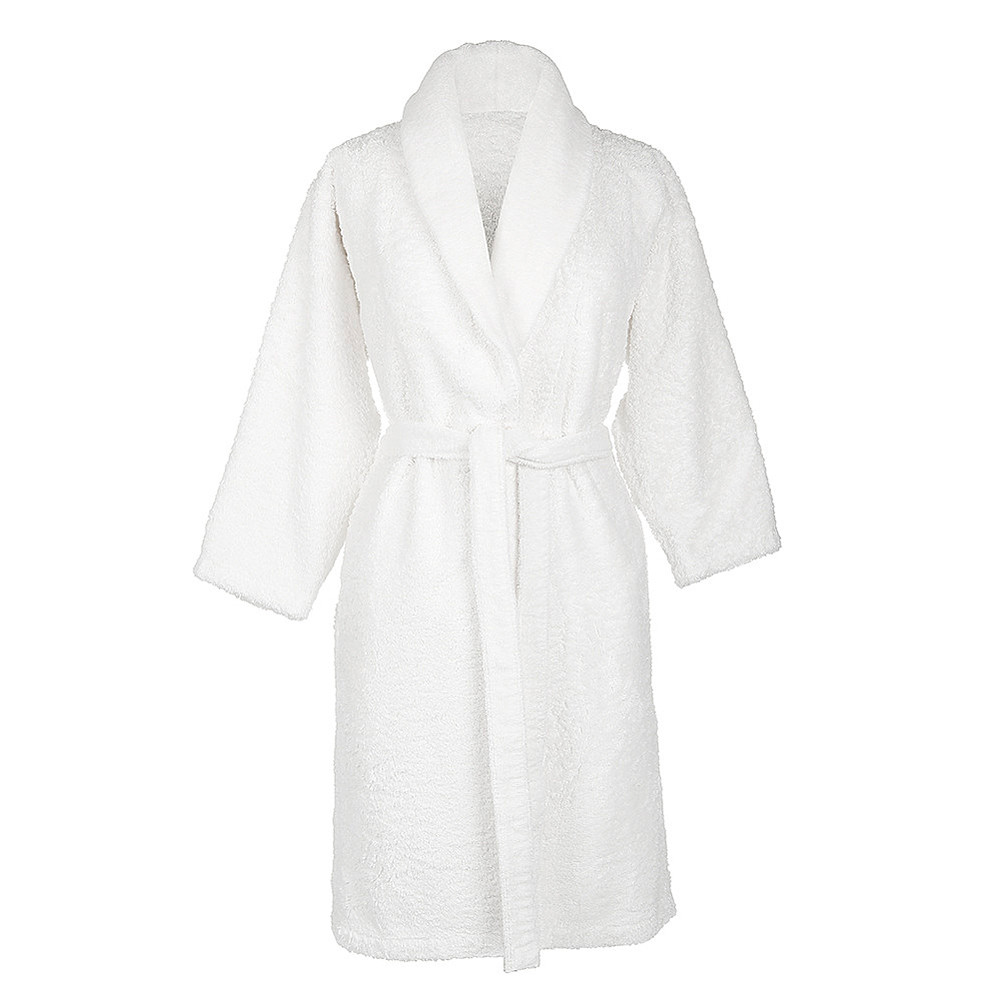 Bath Robe Super Pile White